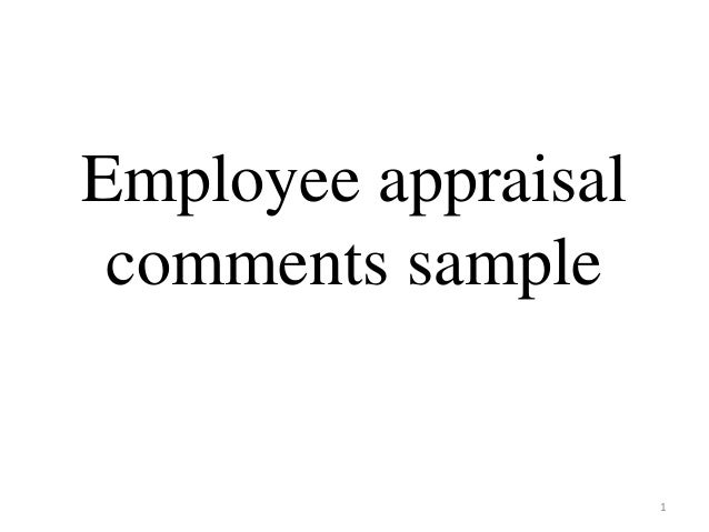 performance appraisal conclusion examples