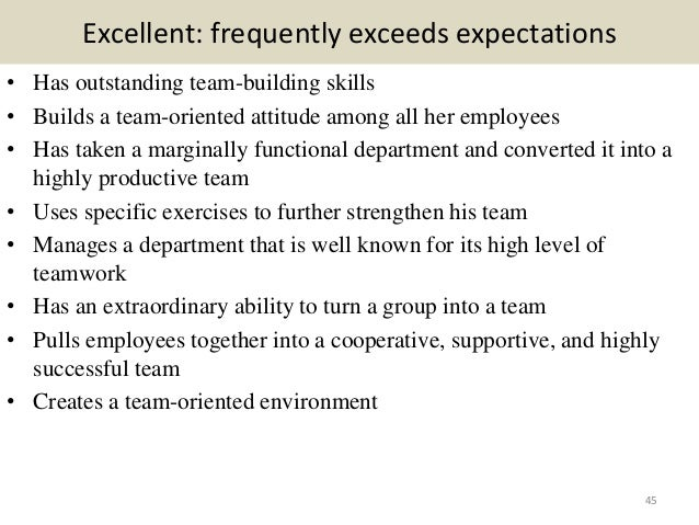 employee appraisal comments sample