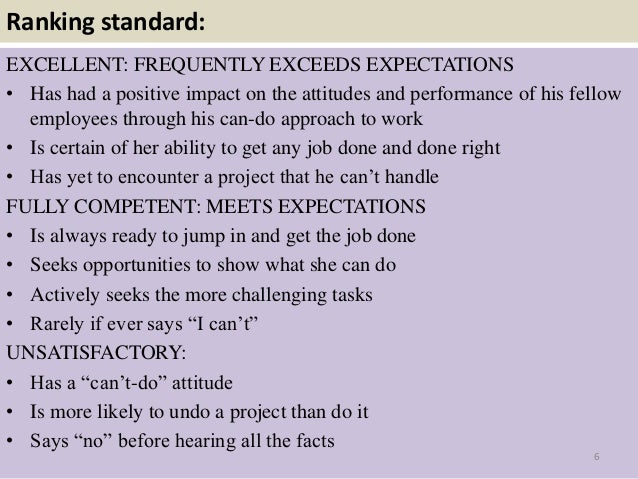 Positive statements for employee evaluations