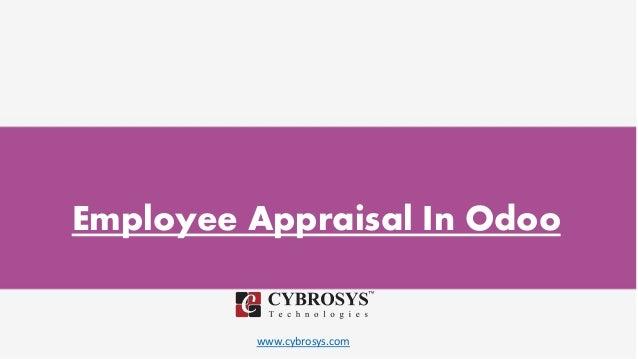 www.cybrosys.com Employee Appraisal In Odoo