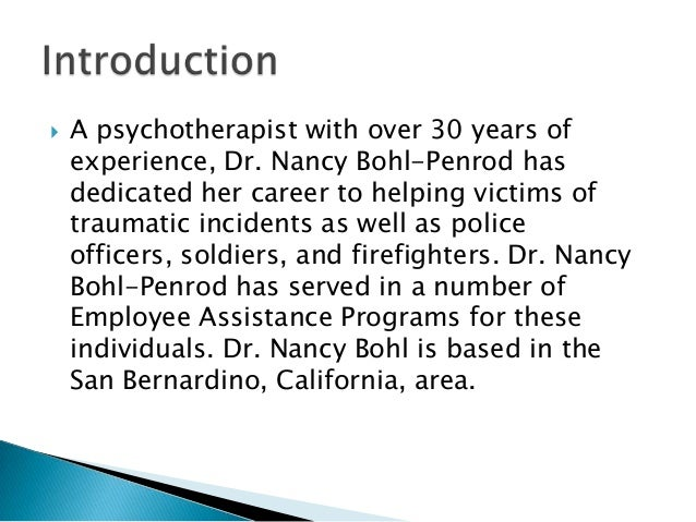 Police employee assistance programs