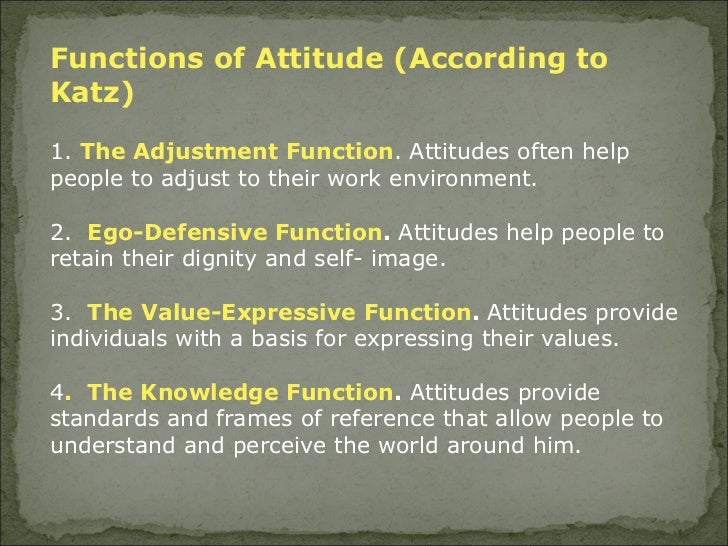 employee attitude as a function of Personality, attitudes, and employees' personalities, attitudes, and work behaviors affect how managers may be a function of.