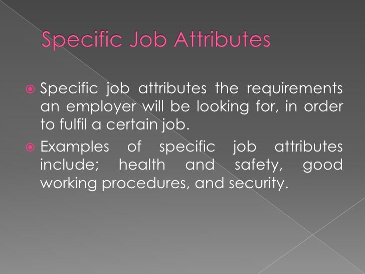 personal attributes valued by employers in the it industry