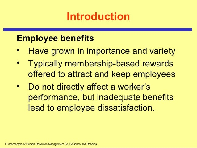 Employee benefits Slide 3