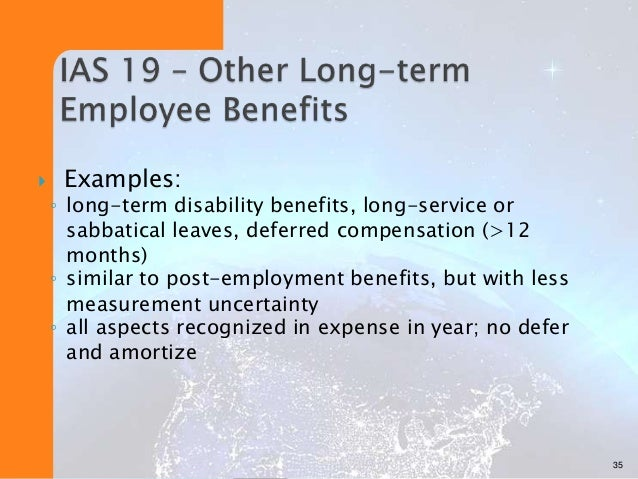 Employee benefits pas 19