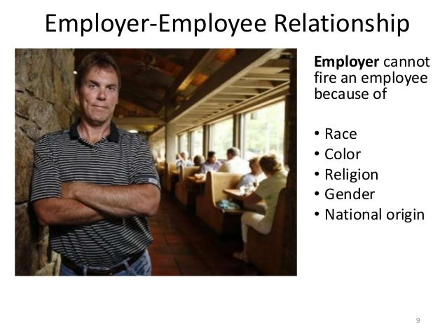 employer dating employee The problems with employee dating an employer may violate an employee's right to privacy by regulating the employee's private off-work relationships.