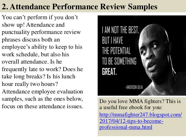 employee comments  performance appraisal