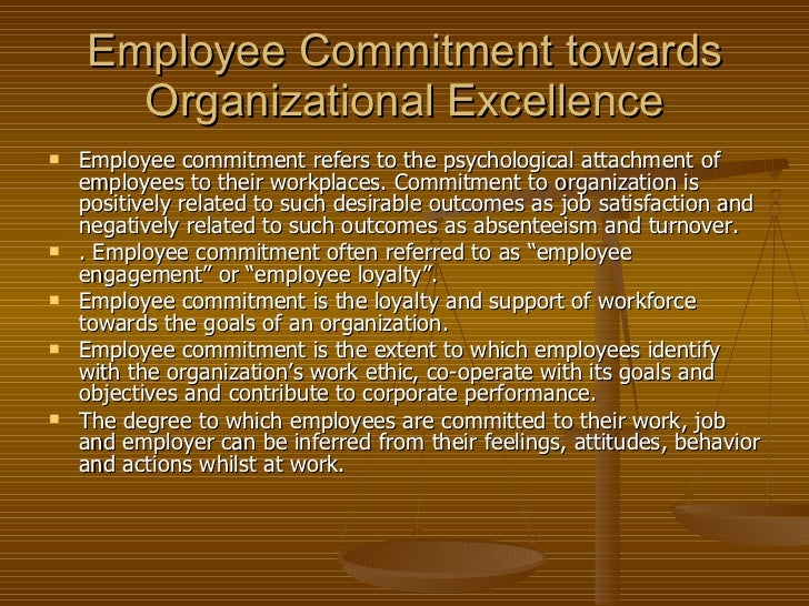 Employee commitment