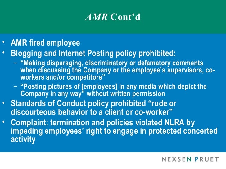 The use of social media to alert employers about the posts of co workers