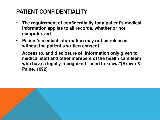 Employee confidentiality training – Medical Confidentiality Agreement