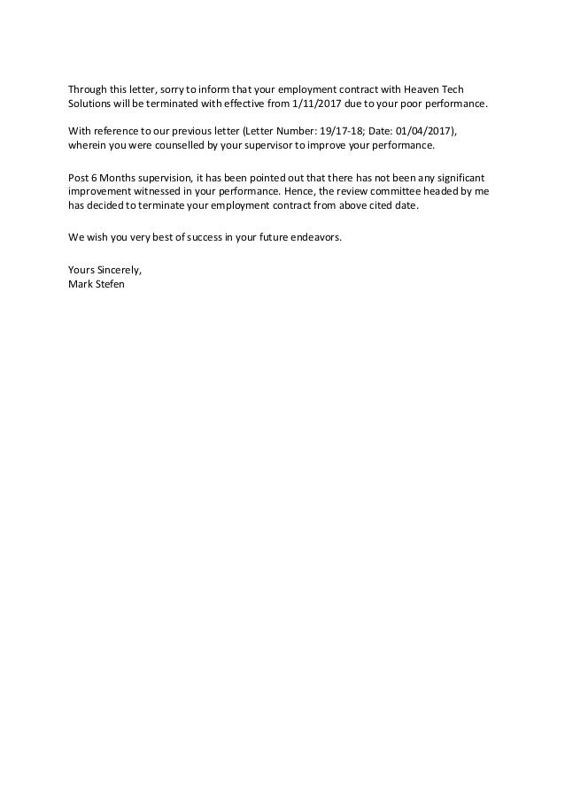 Letter To Terminated Employee from image.slidesharecdn.com