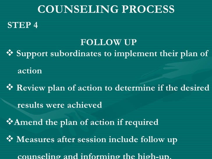 summary of counselling session National guidelines for educating ems instructors august 2002 appendix iv: student counseling report (sample) this counseling report will be made part of the.