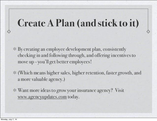 Insurance Agency Employee Development Plan – Employee Development Plan