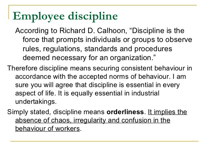 The management of employee discipline