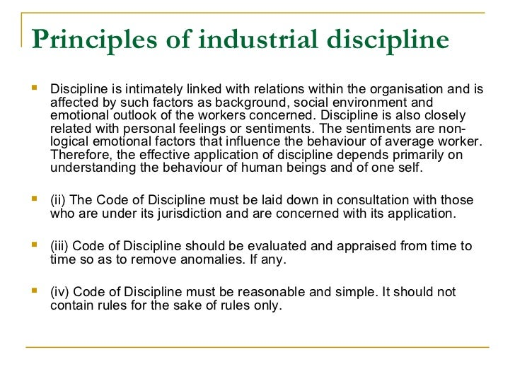 employee relations and employee discipline The progressive discipline process provides a thoughtful and equitable method  of  did the employee have knowledge of the expectation and potential   representative or employee and labor relations, meet with the employee in- person to.