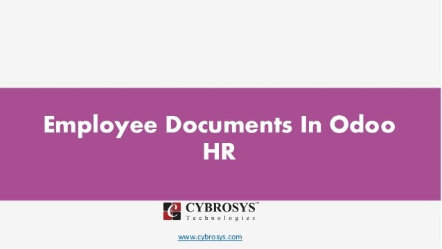 www.cybrosys.com Employee Documents In Odoo HR
