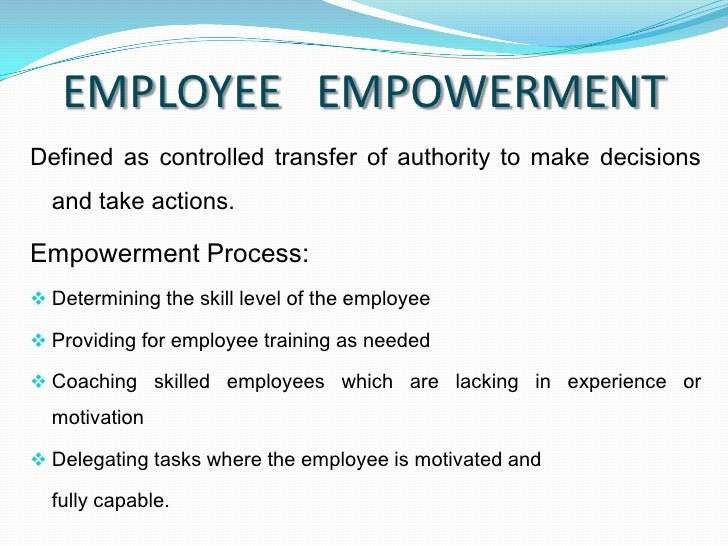 employee involvement and empowerment management essay View employee empowerment research papers this implies that while the workers are willing to accept the responsibility of greater involvement in management.