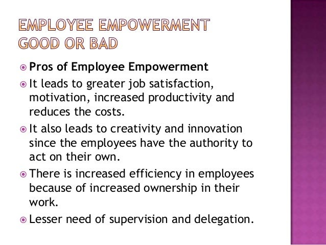 empowering and delegating 2 essay Examples of effective delegation 2 another example of delegating with the authority to proceed unless you intervene makes people feel empowered and all goes.