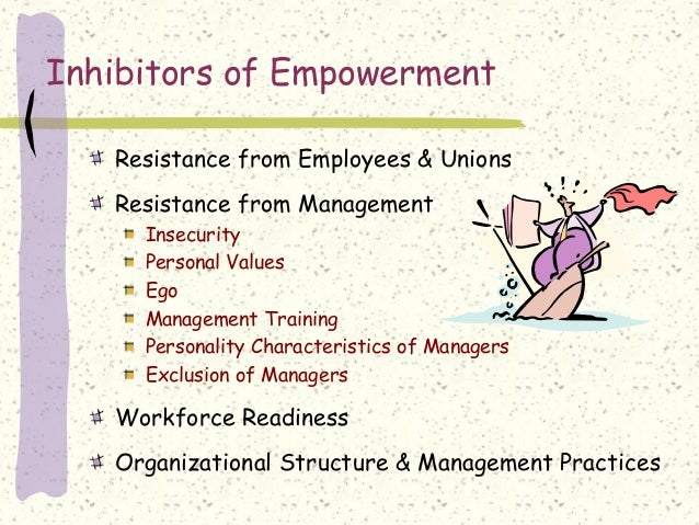 effectiveness of employee empowerment Abstract: this study investigates the quantitative relationship of training, employee empowerment and organizational climate with job performance job performance can be measured in terms of efficiency and effectiveness of employees-how well they perform their tasks in order to achieve organizational goals.