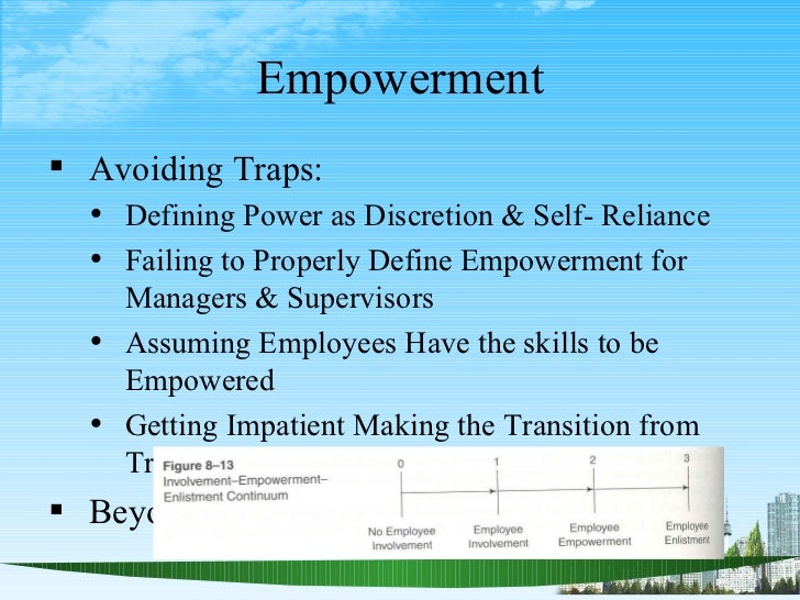 employee empowerment essay Information technology (it) is known as a valuable tool for information  dissemination today, information communication technology can be.
