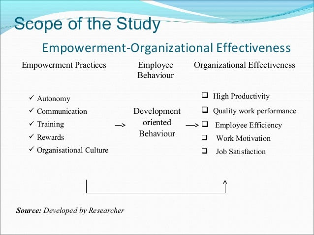 the effects of employee empowerment in an organization Free essay: employee empowerment in flat organizations a flat organization is a culture of ownership and partnership, it is an organization that uses teams.