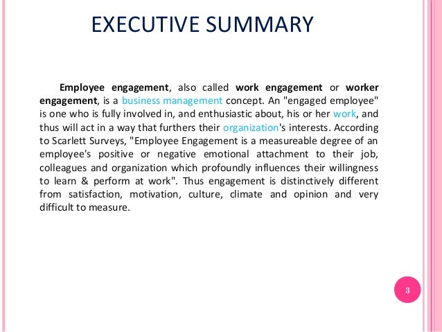 employee motivation executive summary Cli whitepaper how to boost morale through motivation  corplearning@corplearningcom | 18002036734 executive summary employee morale is an essential part of what drives productivity, idea generation, and loyalty within companies a common reason morale is low in  employee motivation can be a difficult thing to accomplish, especially.