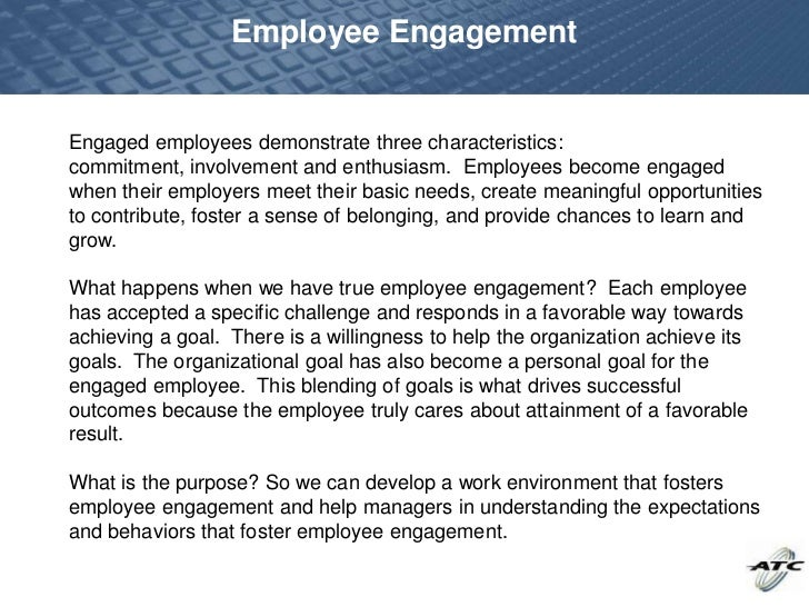 Employee EngagementEngaged Employees Demonstrate ...