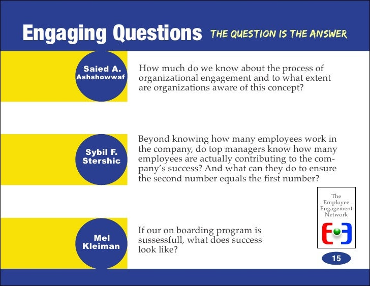 Employee engagement network ebook the question is the answer 14 15 fandeluxe Gallery