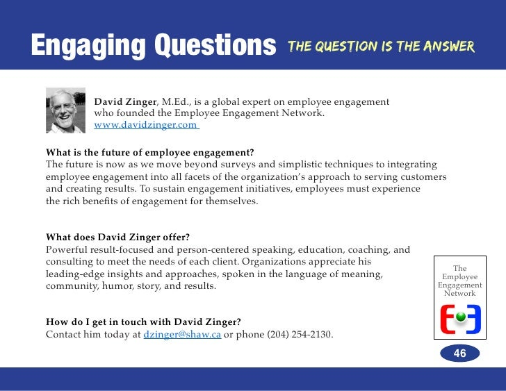 Employee engagement network ebook the question is the answer 46 fandeluxe Gallery