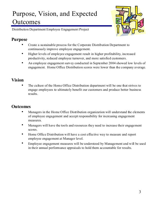 employee engagement project statement of work