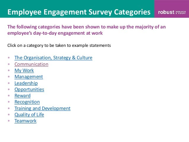 Employment Enement Survey Template | 100 Sample Employee Engagement Survey Questions