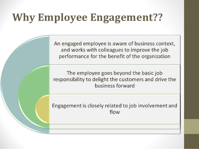 role and importance of employee engagement Discover the top 4 benefits of employee engagement  performing employees –  they're efficient, motivated, understand their role and tackle it.
