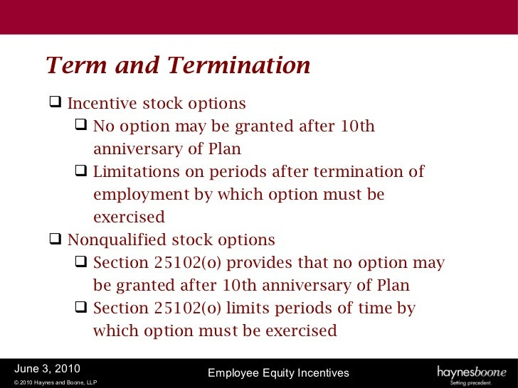 Define incentive stock options
