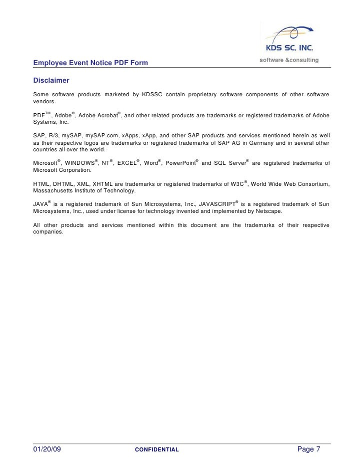 Employee Event Notice Pdf Form Whitepaper V