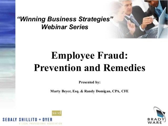 Winning Business Strategies Webinar Series Employee Fraud Prevention And