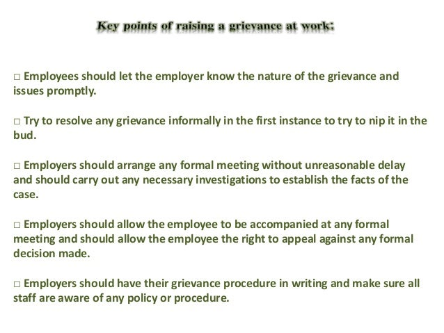 Employee grievance 5 pronofoot35fo Choice Image