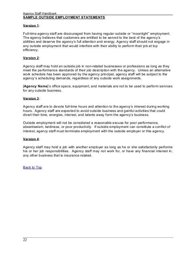 Sample Employee handbook
