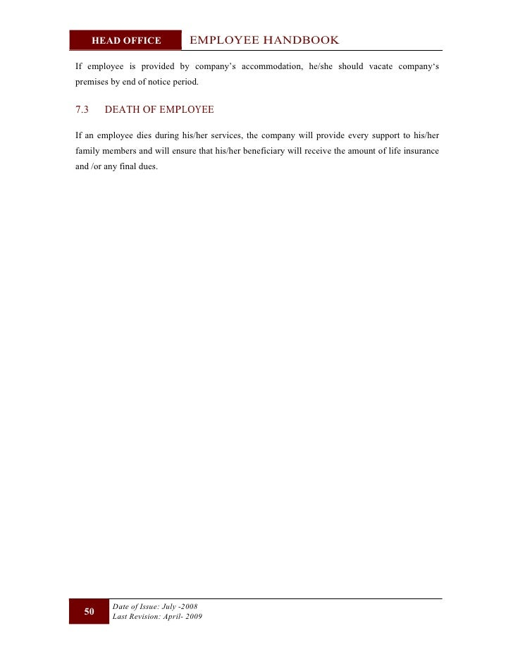 Employee handbook -head_office