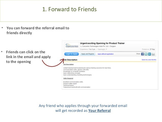 job referral email