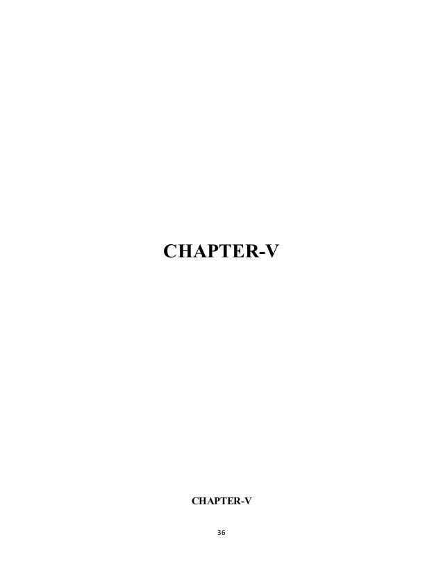 CHAPTER-V CHAPTER-V 36