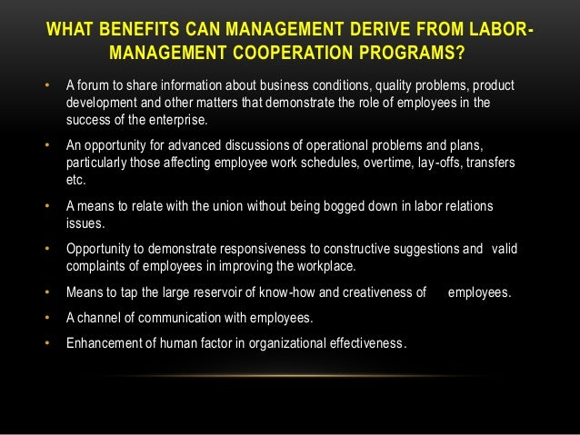 what is cooperative labor management relationship