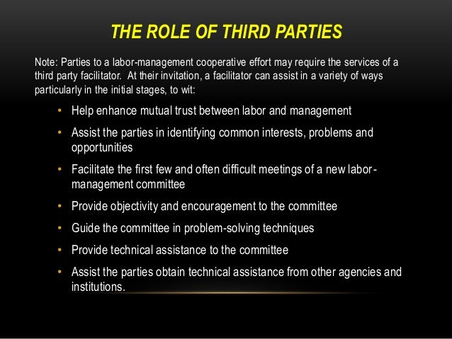the labor management relationship essay In human resource management employment relationship is an essential factor in the running of an organization it can lead to a motivated.