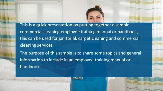 janitorial service training manual rh slideshare net Kitchen Cleaning Manual Manual Cleaning Doc