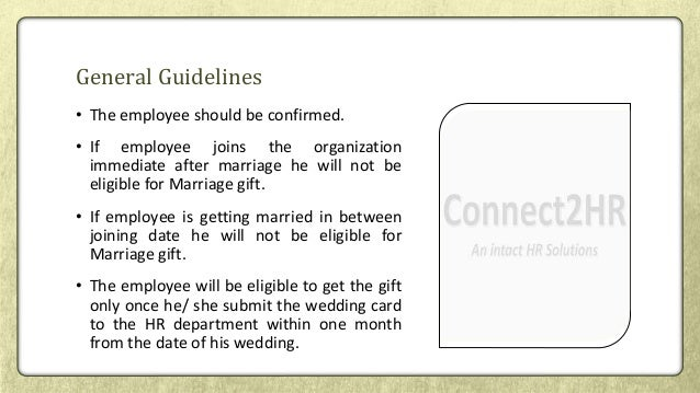 Employee marriage gift policy marriage gift 4 negle Gallery