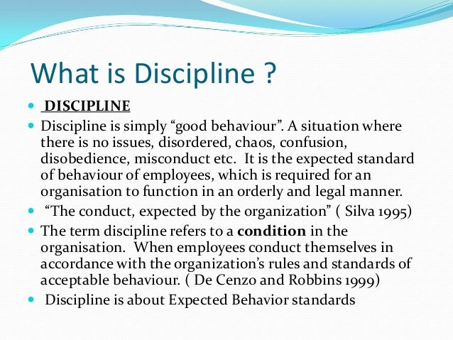 Employee misconduct and discipline