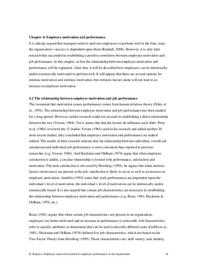 dissertation on motivation and performance Hrm dissertation relationship between performance appraisal and employee motivation the purpose of this dissertation was to analyse the impact of performance.
