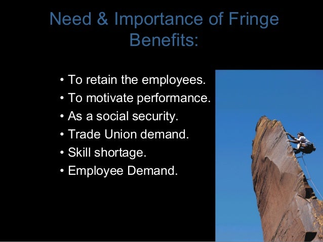performance incentives and fringe benefits Performance pay and fringe benefits work incentives or compensating wage  differentials catalina amuedo-dorantes department of economics, san diego .