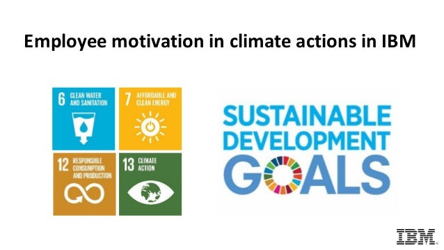 Employee motivation in climate actions in IBM