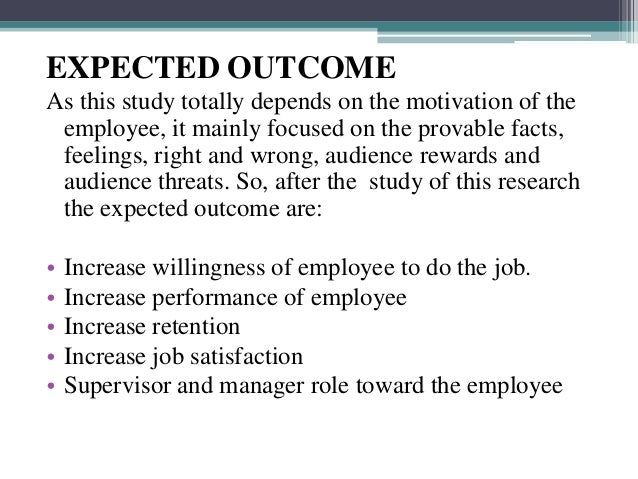 motivation research proposal paper Research paper of motivation - free download as word doc (doc), pdf file (pdf) impact of workplace motivation on employee performance research proposal.