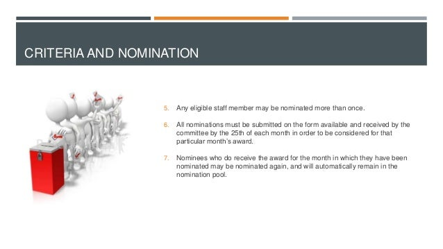 employee of the month process and nomination